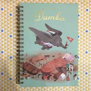 迪士尼 小飛象Dumbo 復古橫條筆記本