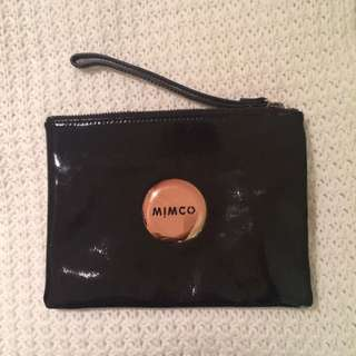 Mimco Black/Rose Gold Medium Pouch RRP $100