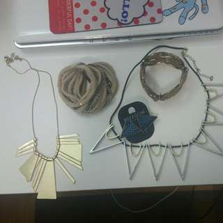 Nacklaces, Bracelets, Earring