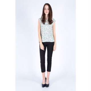 BRAND NEW: Two Way Printed Top (White)