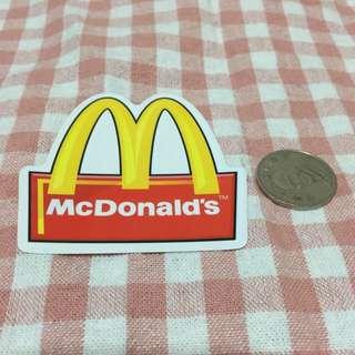 麥當勞 Logo 防水貼紙