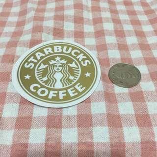 金色 星巴巴 舊款 Logo Starbucks 防水貼紙