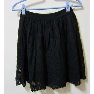 【全新】蕾絲褲裙