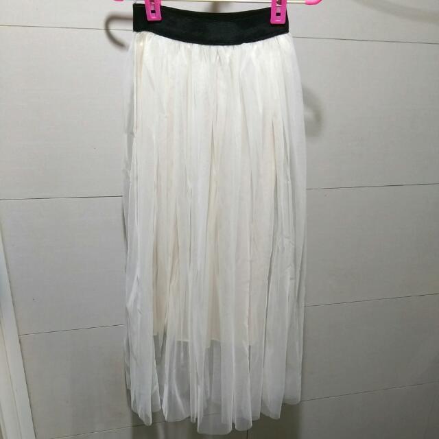 (含運)白色紗裙