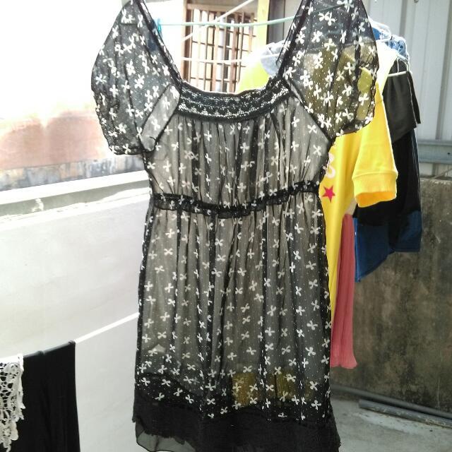 雪紡黑色洋裝