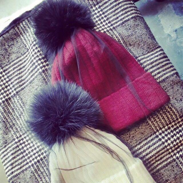 韓國網紗毛帽