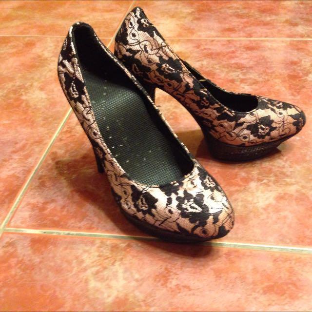 二手- 粉色晚宴華麗風高根鞋(37號)