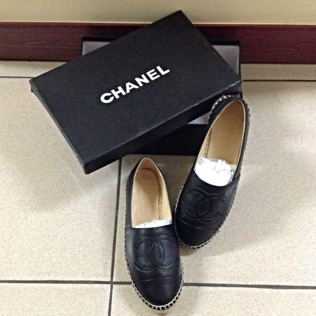 小香編織皮革鞋 (黑)