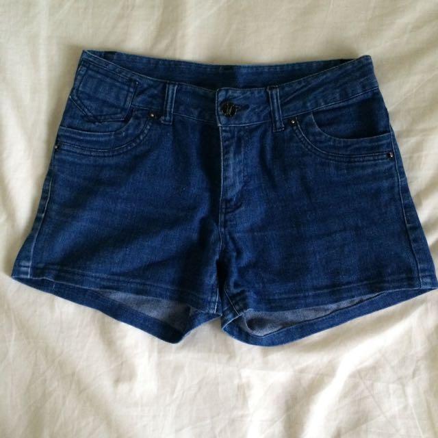 二手 藍牛仔短褲