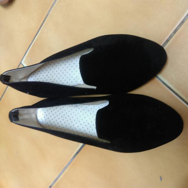 平底樂福鞋 黑色