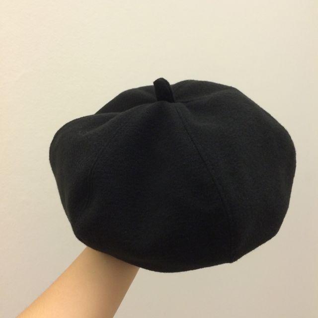 全新✨黑色貝蕾帽 畫家帽