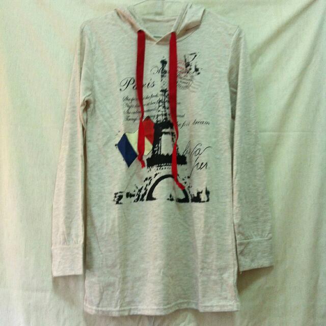 📍 代售 連帽長版上衣 法國巴黎東京鐵塔
