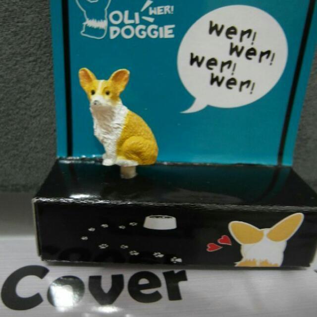 柯基 狗狗 動物 造型 手機 吊飾 防塵 耳機 塞 PVC 塑膠 材質