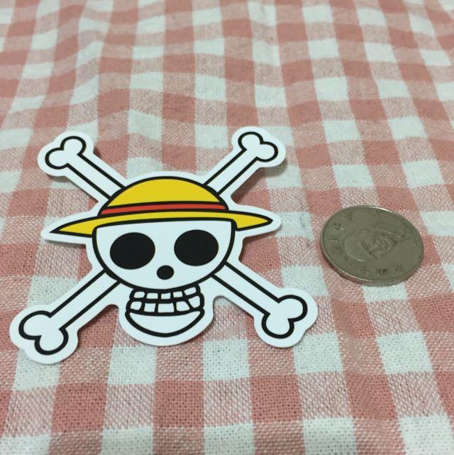 海賊王 航海王 Logo 草帽小子海賊團 防水貼紙