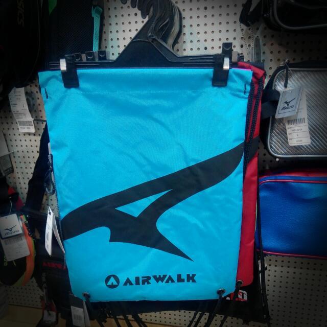 Alrwalk後背包 束口袋 雙面 藍/粉 拉鍊設計