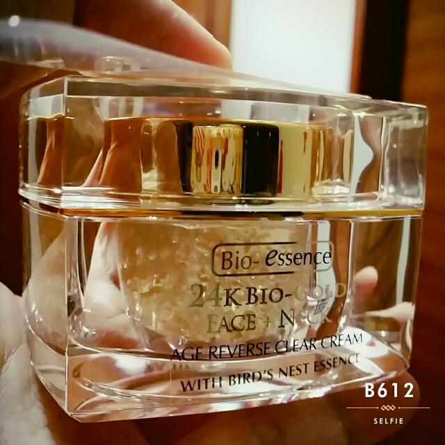 ✔Bio-essence碧歐斯逆時活膚透明霜含燕窩精華(附刮勺)50g