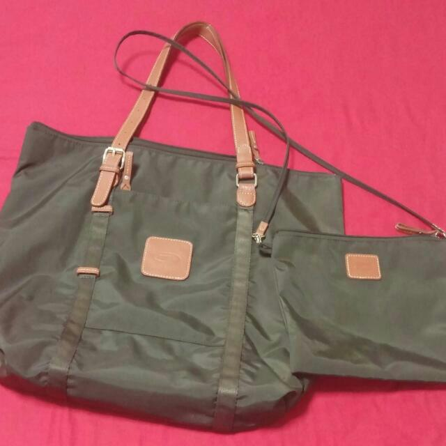 Brics Large Tote Bag (Olive Green)