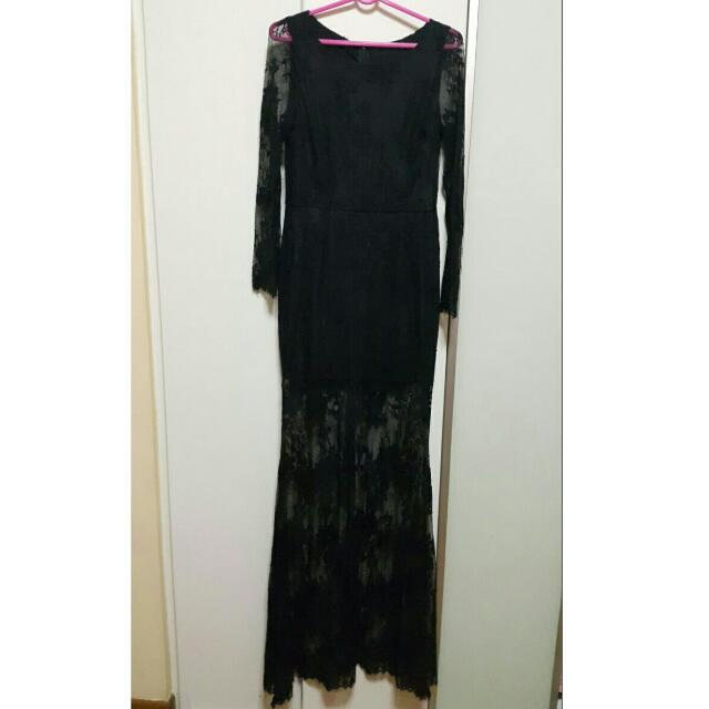 Frech Lace Prom Dress