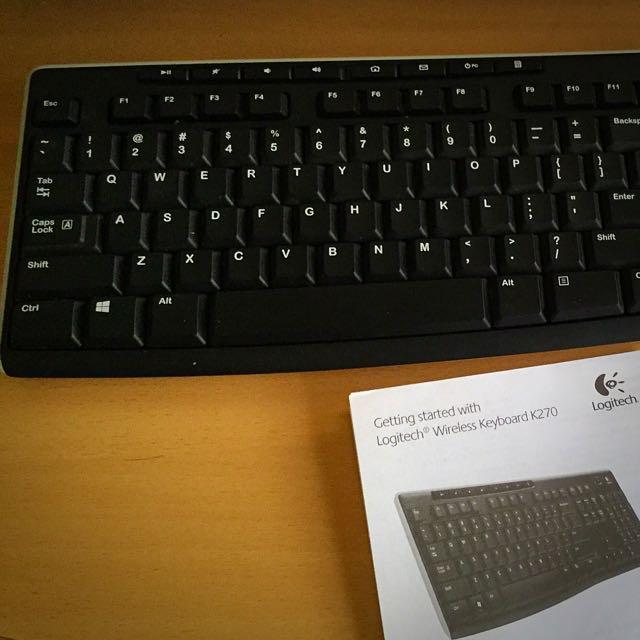 Logitech Wireless Keyboard K270 Electronics On Carousell