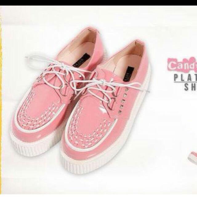 Major 粉色蛋糕厚底鞋/增高鞋