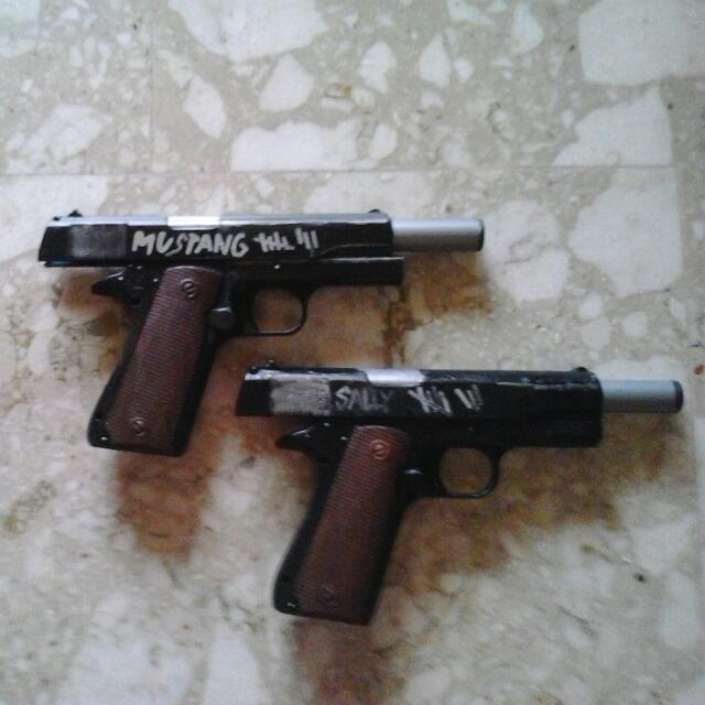replica gun mustang and sally!!!!!, toys & games on carousell
