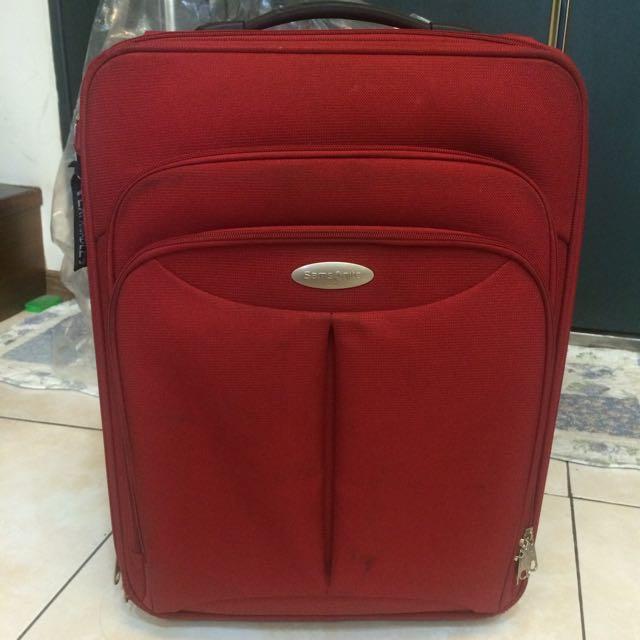Samsonite 行李箱 防潑水布 紅色 日本品牌