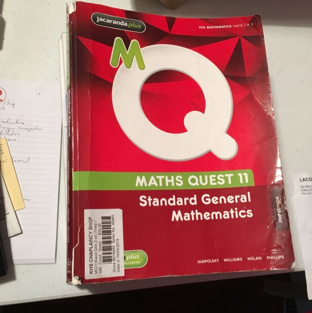 Standard Further/General Maths Book