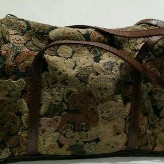 泰迪熊手提包