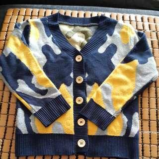 男童紳士拼色毛衣(含運)