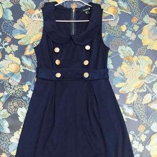 Forever 21深藍色無袖洋裝