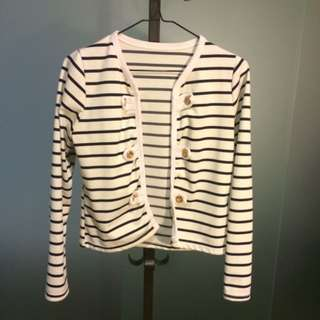 Cotton Striped Jacket