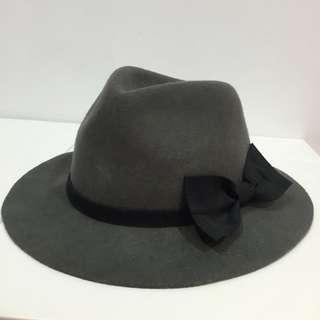 蝴蝶結大圓帽灰色