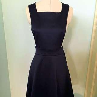 Navy Pinafore Dress