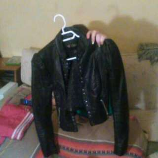 Guess Leather Jacket Size Small