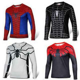 Spiderman Long Sleeves Compression Dryfit Material