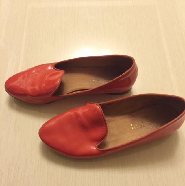 1991牛皮樂福鞋