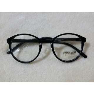 正韓 黑色圓弧細框眼鏡