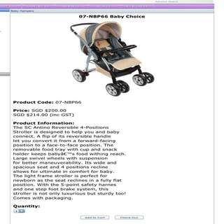 Baby Stroller (Hot Sale!!!!!) SC Antino