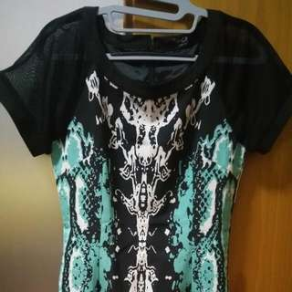 Emerson Printed Dress In Green