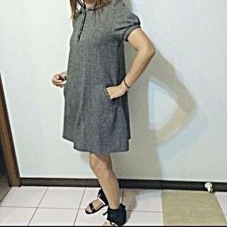 A字毛呢洋裝