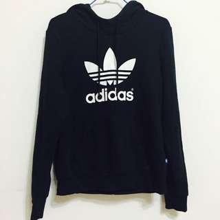 (保)限時特價✨ Adidas 黑色 帽t 秋冬必備 經典款