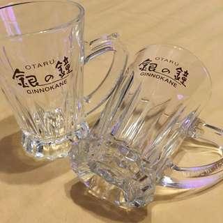 北海道小樽玻璃咖啡杯二個