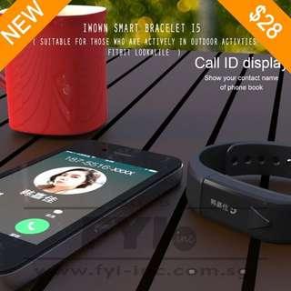 Bluetooth Personal Tracker + Call Alert , Smart Bracelet. Model : IWOWN I5