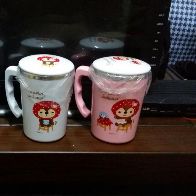 全新-家事小莞熊不鏽鋼泡茶杯