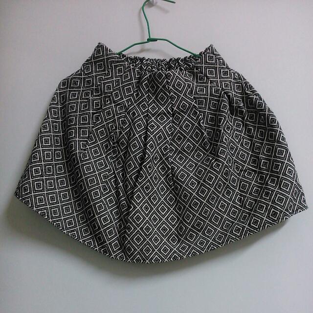 幾何圖案短裙