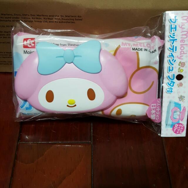 全新日本帶回美樂蒂濕紙巾