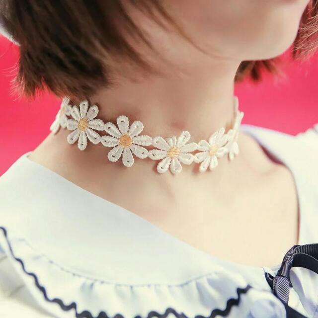 【現貨】日本復古雛菊蕾絲頸鍊項圈項鍊