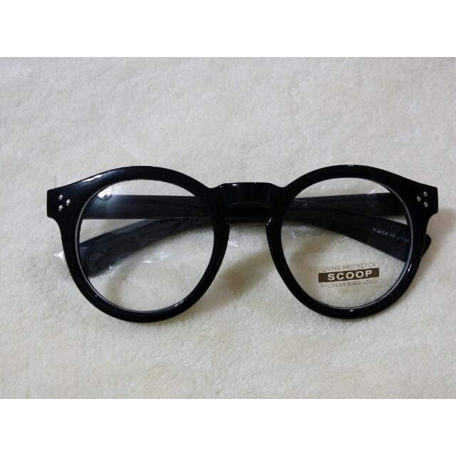 正韓 黑粗框眼鏡