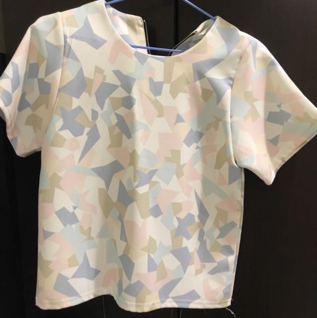 韓國購入 粉嫩上衣