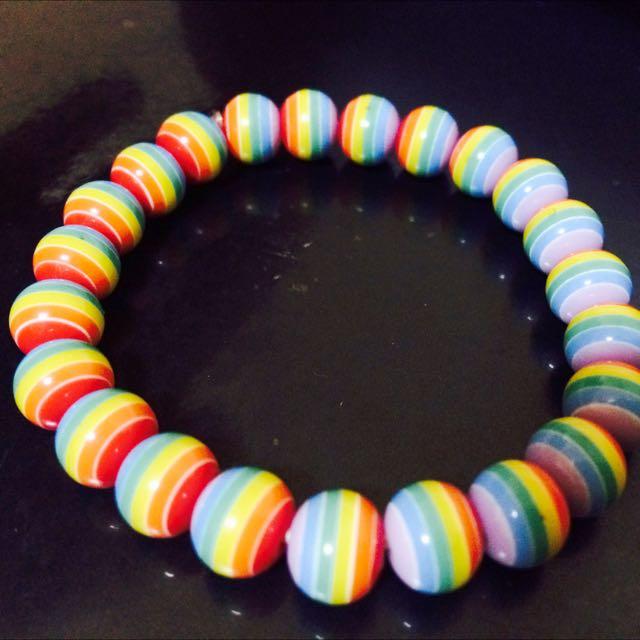 逸逸非凡 彩虹手鍊 串珠手環